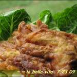 Fried Zucchini Blossoms / Fiori di Zucchini Fritti in Pastella