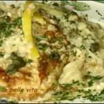 Chicken in Lemon Cream Sauce . . . Pollo in Salsa di Limone e' Crema