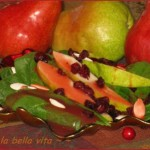 Autumn Harvest Spinach Salad with Pears, Cranberries, and Pumpkin Seeds