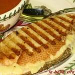 Fontina & Asiago Grilled Cheese Panini & Creamy Tomato Basil Soup