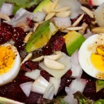 Beet Salad with Avocados and Manchego Cheese