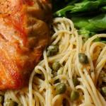 Spa Food: Healthy Spaghetti with Salmon, Lemon and Basil