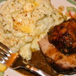 Roasting in the Cold Weather: Roast Pork Tenderloin with Roasted Garlic Vinaigrette