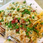 Farfalle Carbonara with Pancetta and Peas