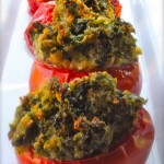 Stuffed Tomatoes with Spinach, Basil and Six Italian Cheeses