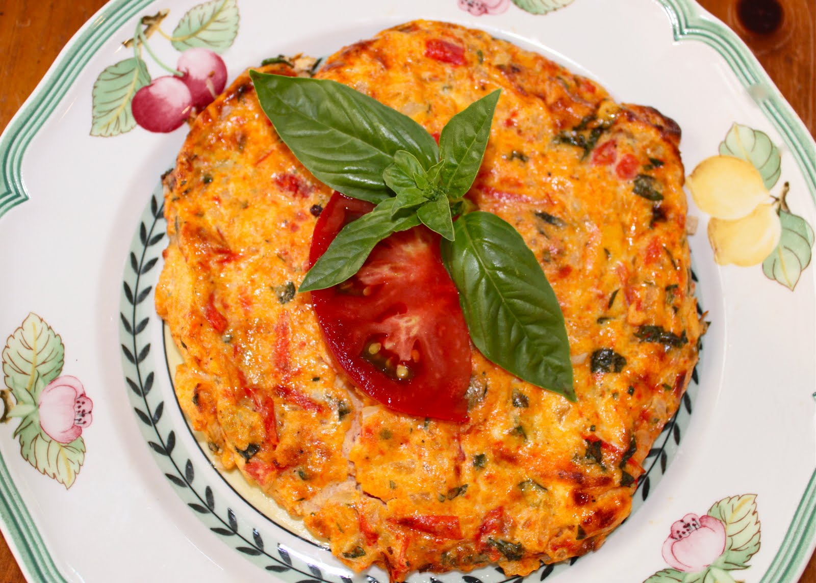 Heirloom Tomato Frittata with Fresh Basil and Parmesan ...