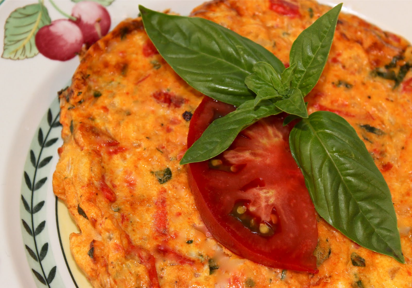 Heirloom Tomato Frittata with Fresh Basil and Parmesan - La Bella Vita ...