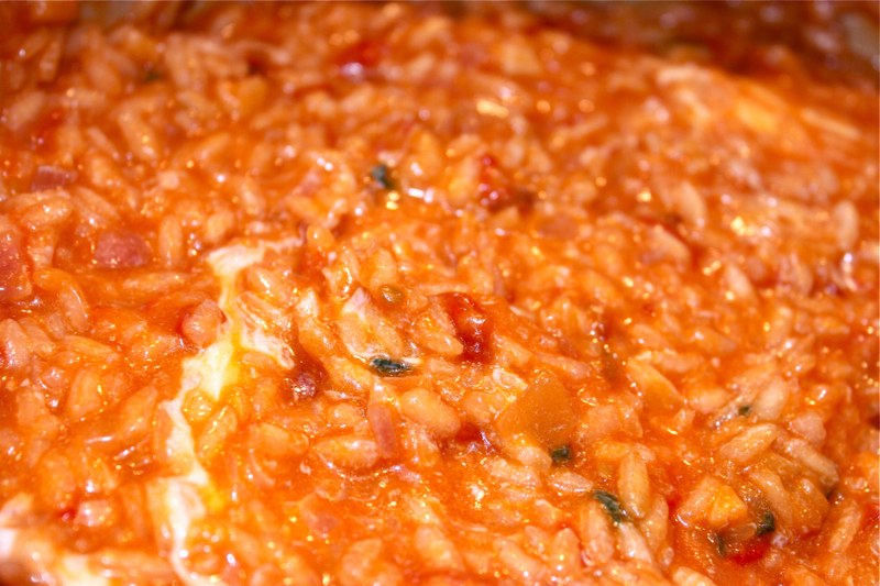 Risotto With Tomato, Basil And Mozzarella Recipes — Dishmaps