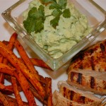 Baked Sweet Potato Fries with Fresh Avocado Dip