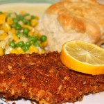Panko and Italian Herb~Crusted Perch Filets!