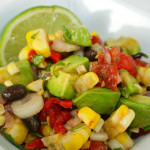 Grill-Roasted Corn, Black Bean and Avocado Salad with Cilantro Viniagrette