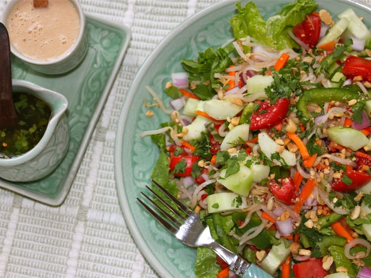 A Fresh Thai Salad and Two Thai Dressings
