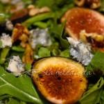 Fig & Arugula Salad with Gorgonzola & Balsamico Vinaigrette