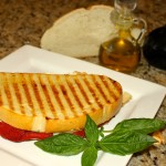 Roasted Red Pepper and Goat Cheese Panini