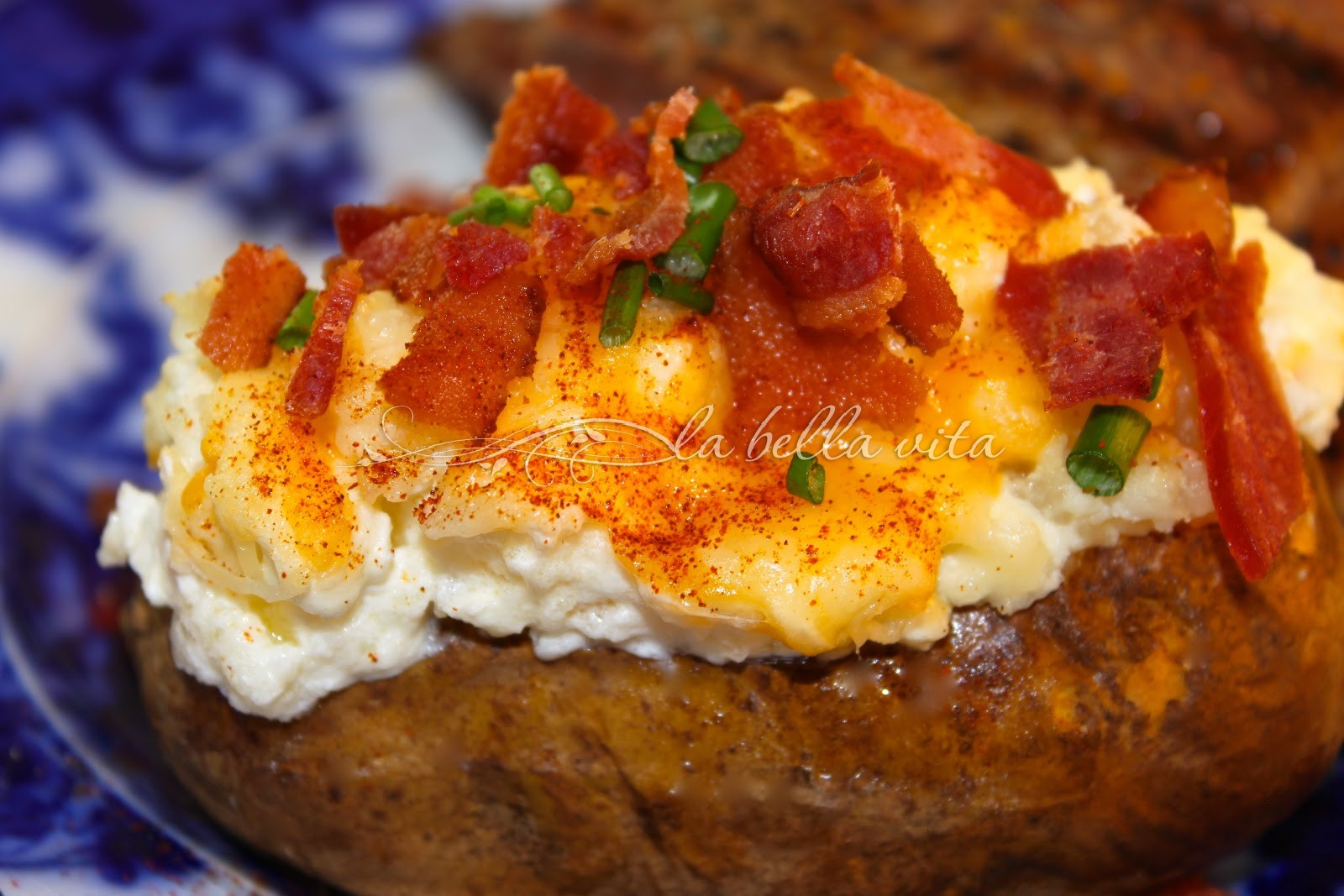 Twice Baked Potatoes with Fontina Cheese