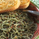 Pasta Verde with Olive Oil, Garlic & Peperoncini