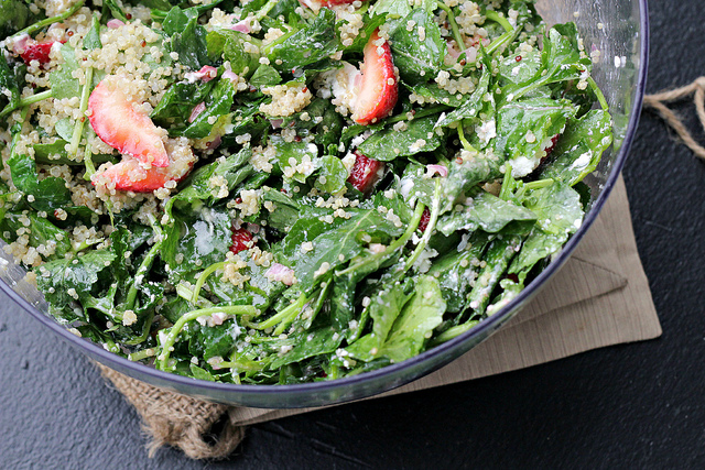 Kale, Quinoa, and Strawberry Salad