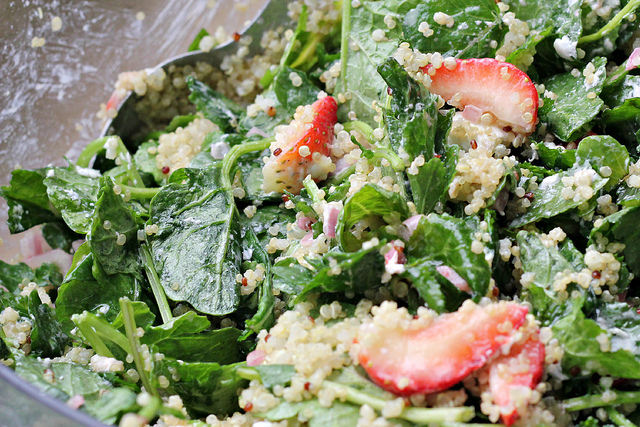 Kale, Quinoa, and Strawberry Salad Joanne Eats Well With Others