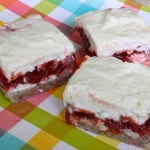 Creamy Strawberry, Rhubarb and Mascarpone Cheese Bars