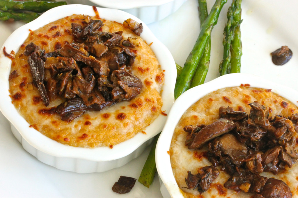 ... polenta side dish, Fontina Polenta with Sauteed Porcini Mushrooms