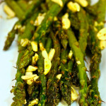Roasted Asparagus with Roasted Garlic and Almon