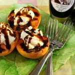 Grilled Peaches with Mascarpone Cream and Sweet Balsamic Syrup