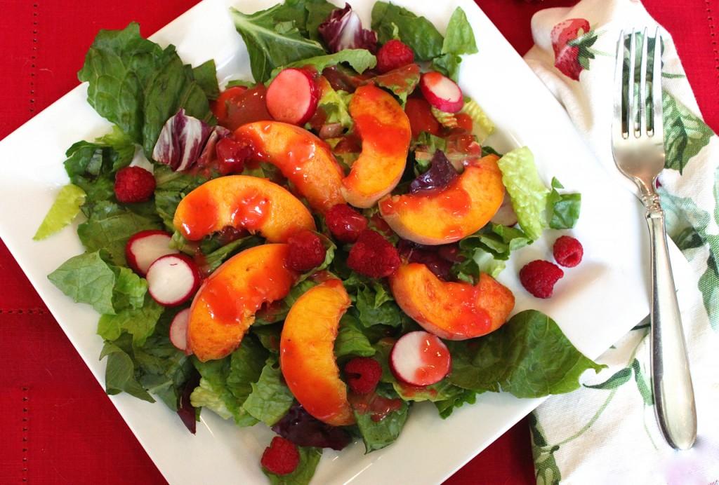 fresh peach summer salad