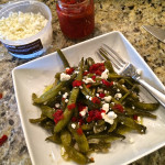 Fresh Italian Green Bean Salad & A Kitchen Garden