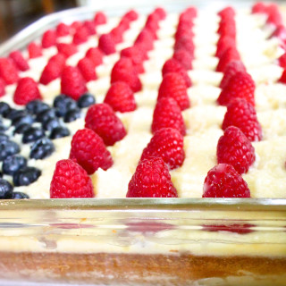 flag cake memorial day 4th of July