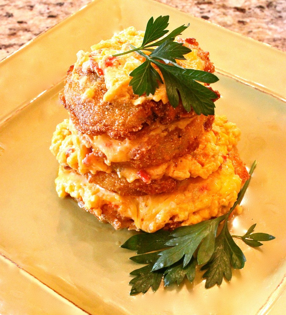 with fried green tomato pimento pimento cheese for him more cheese ...