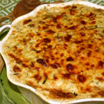 Creamy Parmesan Zucchini and Rice Gratin