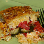 Tomato and Zucchini Gratin with Asiago and Pimento Cheese