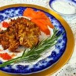 Best Ever Potato Latkes with Italian Herb Yogurt Sauce