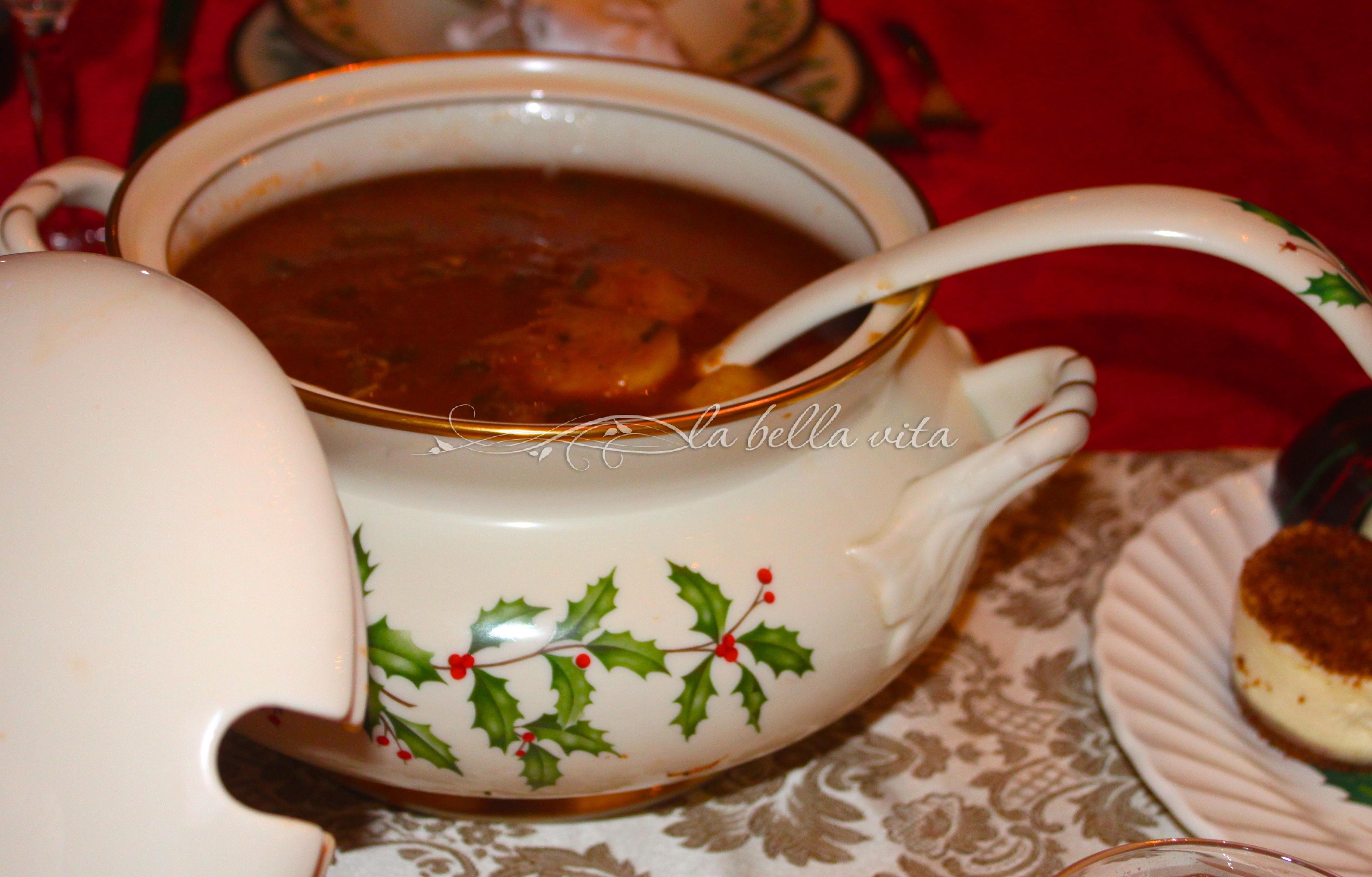 Italian Beef Stew with Polenta