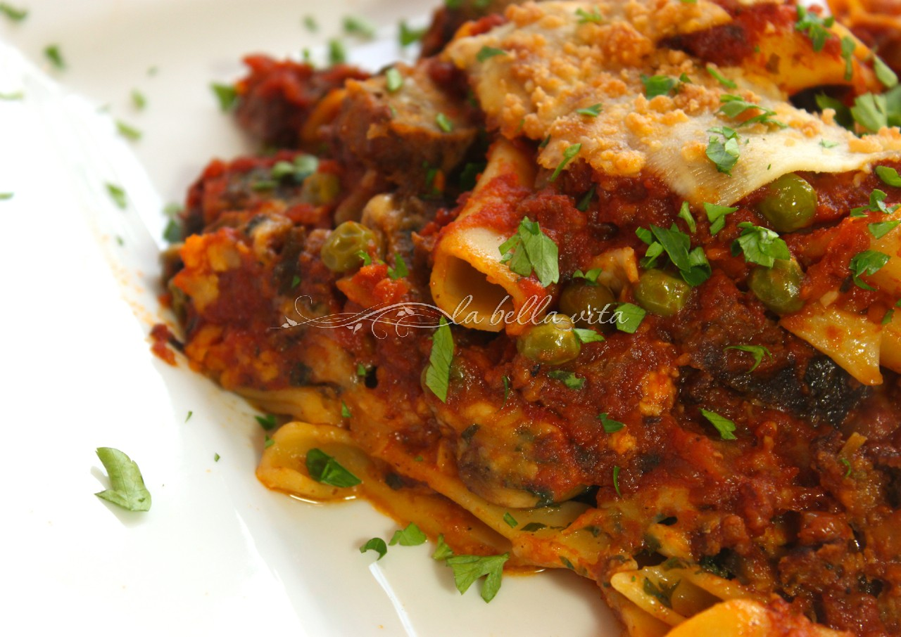 Cheesy, Layered Italian Pasta Torta