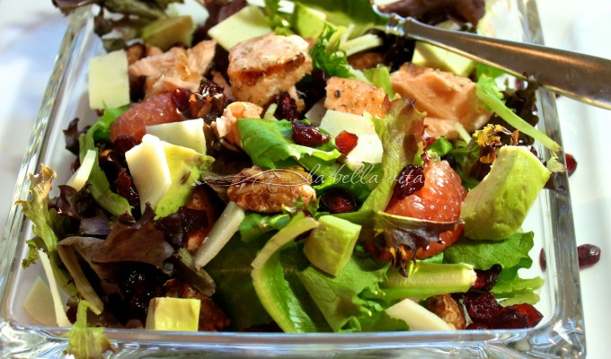 7 Tips For A Great Salad — Grilled Salmon and Mixed Greens Salad