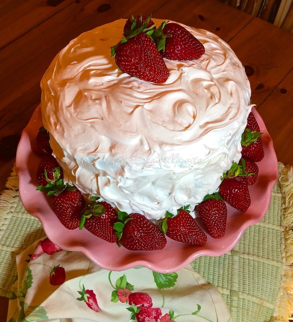 Strawberry Layer Cake with Italian Meringue Buttercream ...