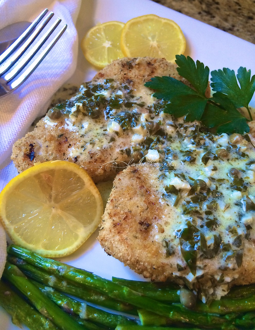 Grilled italian swordfish with creamy lemon caper sauce for Lemon butter caper sauce for fish