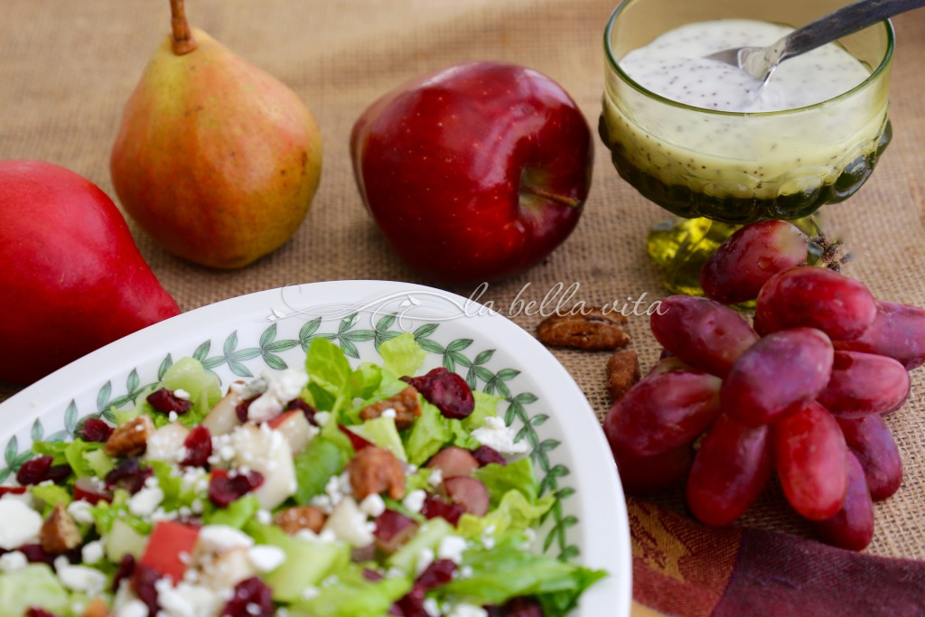 Perfect Autumn Chopped Salad with Cranberry Balsamic Vinaigrette