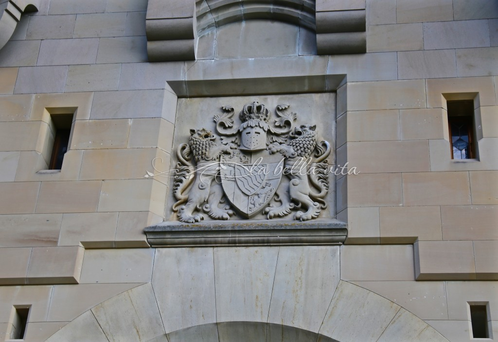 carved coat of arms