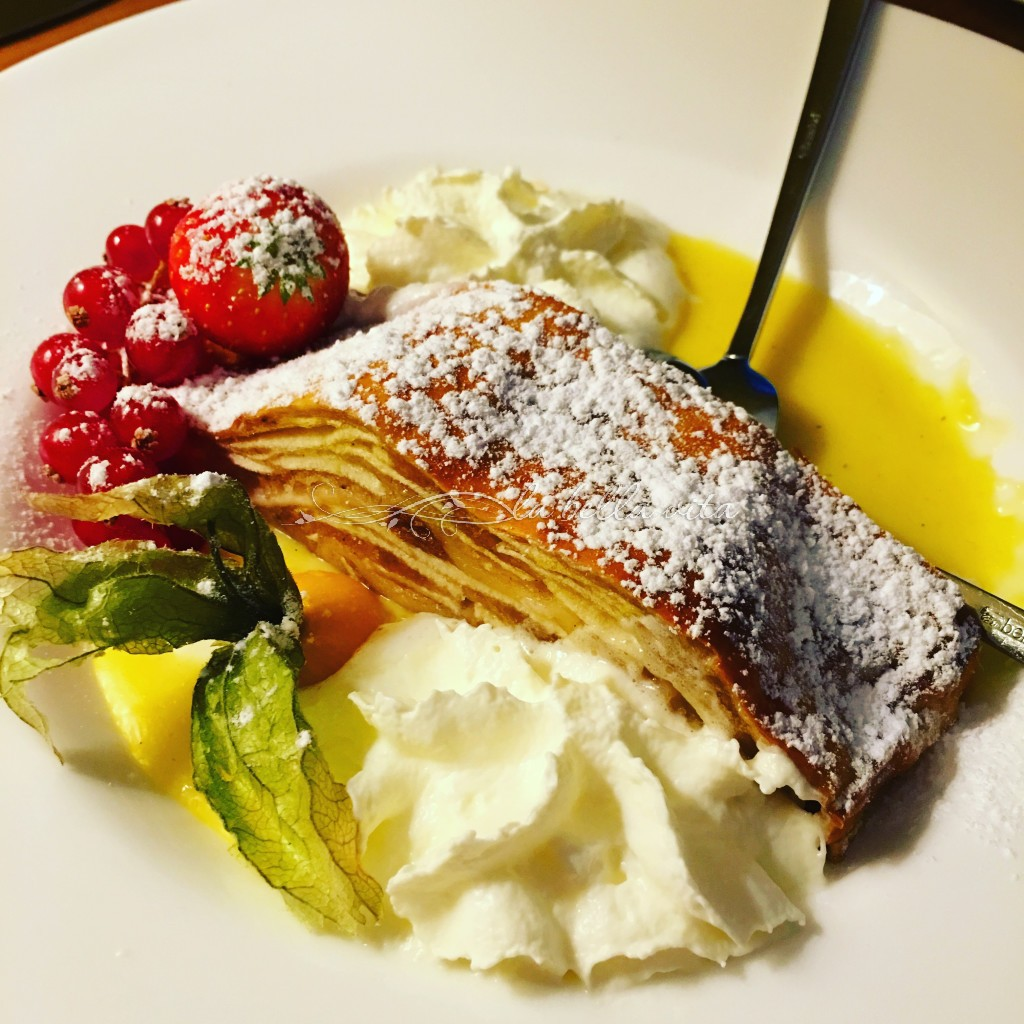 room service 'Apple Strudel' -- unbelievable! Dessert to your room that is over-the-top-delicious!