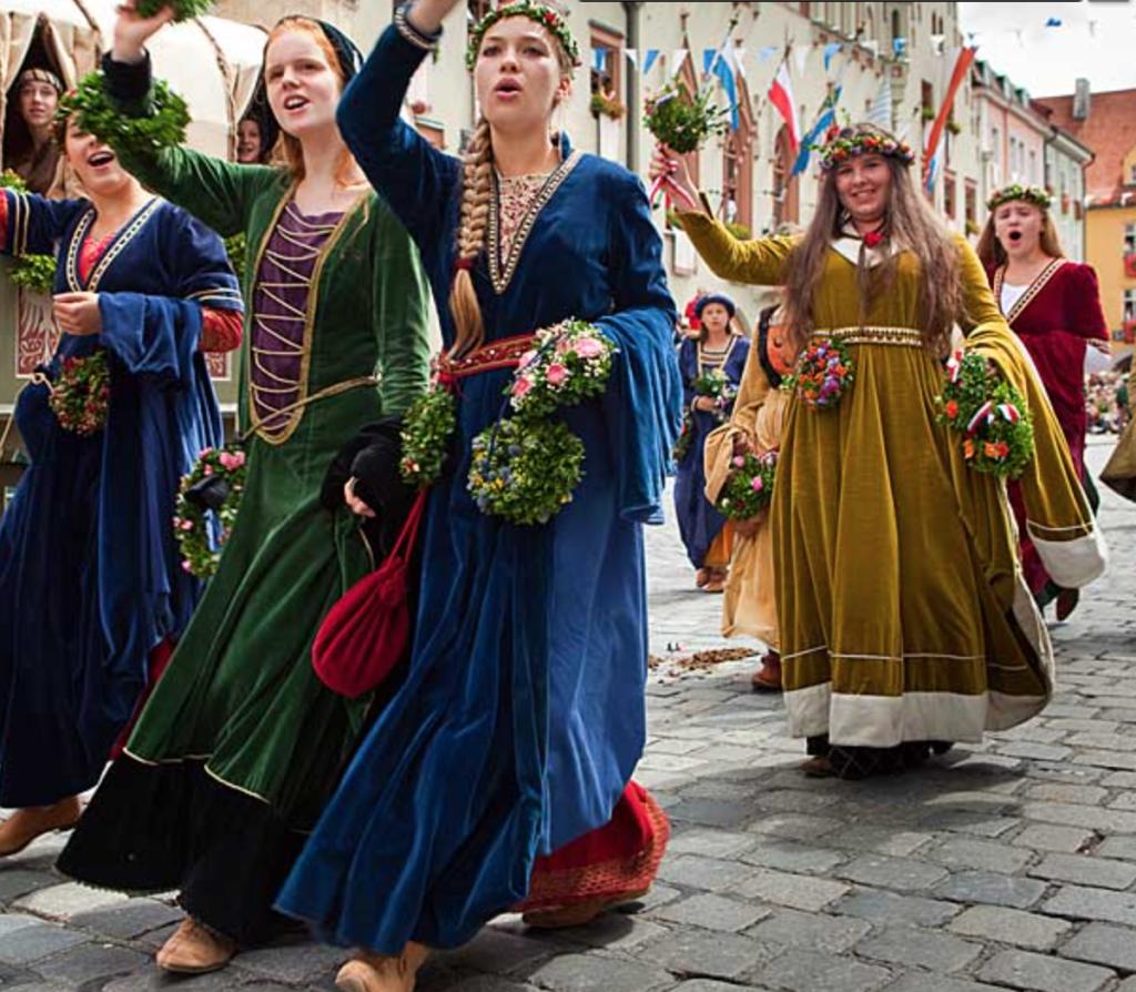 The Famous Midieval Wedding Celebration Reenactment in Landshut, Bavaria, Germany