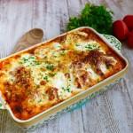 Baked Ravioli in Basil Marinara Sauce