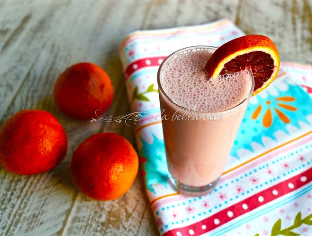 Skinny, Creamy Blood Orange Smoothie