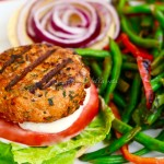 Italian Seasoned Salmon Burgers with Garlic Aioli
