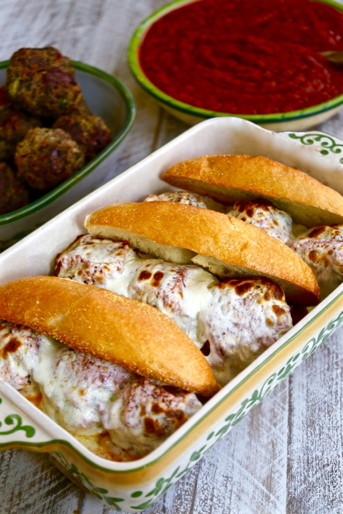 Cheesy Italian Meatball Sandwich