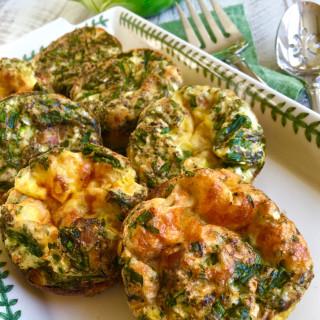 Mini Frittata with Asparagus and Six Italian Cheeses