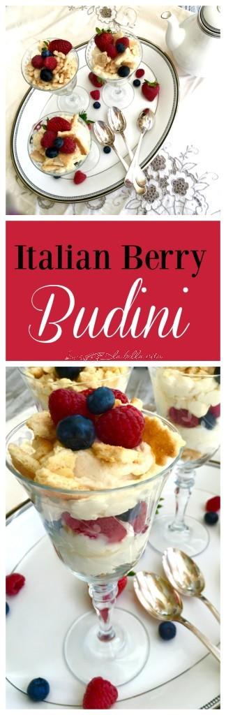 Italian Berries, Mascarpone and Marsala Budini