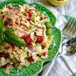 Tuna and Artichoke Pasta Salad with Sun-Dried Tomato Vinaigrette