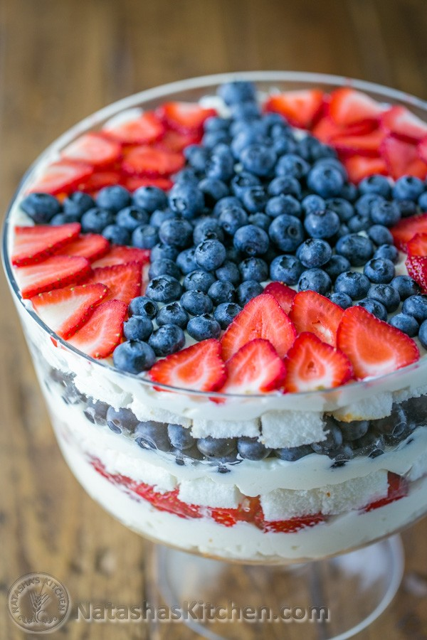 25 Top Red White and Blue Patriotic Recipes on Pinterest